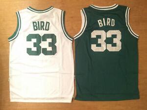Men/'s Boston Celtics Larry Bird Retro Basketball jersey Green S-M-L UK STOCK