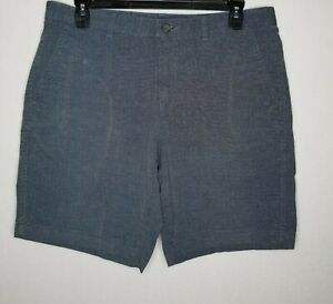 Marc-Anthony-Men-039-s-Slim-Fit-Flat-Front-Twill-Shorts-Size-36-Urban-Chic