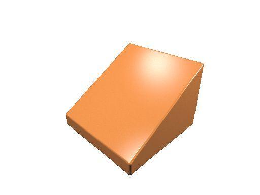 20 x [neu] LEGO Dachstein 1 x 1 x 2/3 - orange - 54200