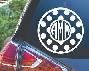 Personalized Polka Dot Circle Monogram Decal Sticker For Car Tumbler Planner Ebay