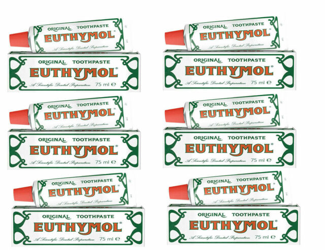 Euthymol Original Toothpaste 75ml - 6 PACK