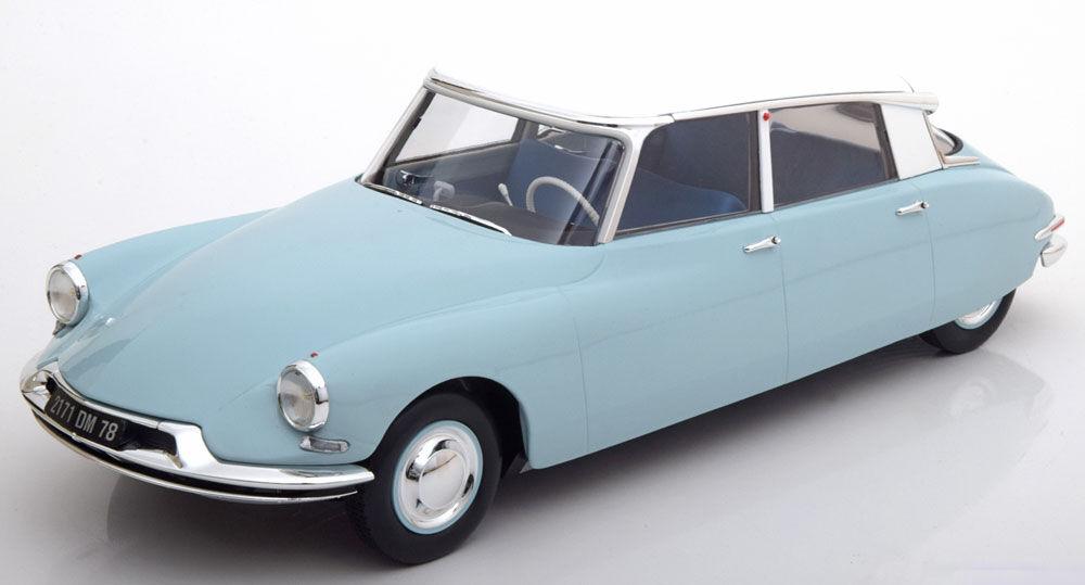 Norev 1959 citroen ds 19 lumière bleu  with blanc roof le 1000 1 18 nouveau in  acheter en ligne