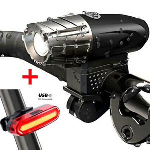 USB-Rechargeable-LED-Bright-Bike-Front-Headlight-and-Rear-Tail-Light-Set