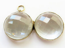 Faceted Pools of Light Rock Crystal Antique Victorian Locket Pendant