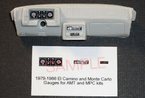 1979-1986-EL-CAMINO-AND-MONTE-CARLO-GAUGE-FACES-for-1-25-scale-AMT-MPC-KITS