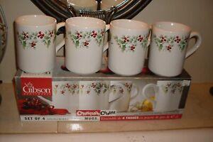 4-Gibson-Everyday-Housewares-CHRISTMAS-CHARM-Holly-Berries-Coffee-Mugs-4