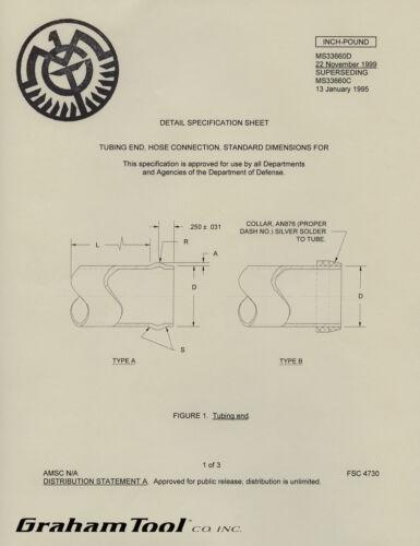 "Tube Beading Tool  With V-Block 1//4/"" /&  5//16/"" USA Free Worldwide Shipping"