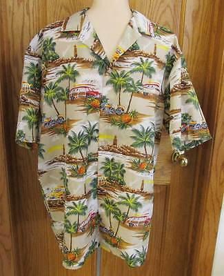 70d25cb03ab Mens Hawaiian Shirt Large Polyester Pineapples Woody Station Wagons ...