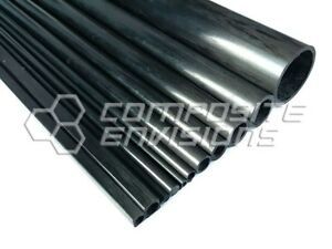 Carbon Fiber Pultruded Round Tube 2mm OD x 1mm ID x 1.2m