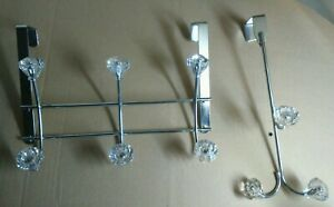 SET-OF-2-BED-BATH-amp-BEYOND-U-S-A-CRYSTAL-amp-STEEL-CABINET-DOOR-HANGING-CADDY