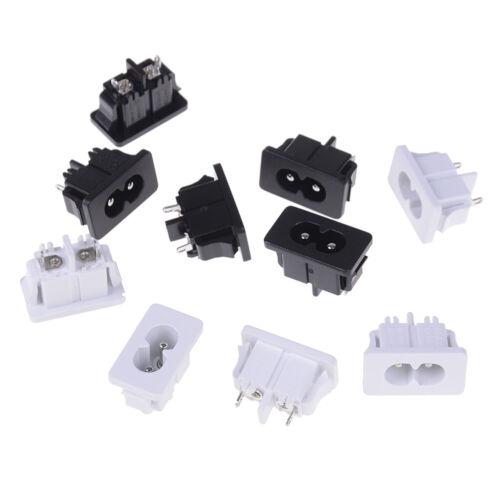 5 Stücke AC250v 2.5a iec320 c8 stecker 2 pins steckdose TECA R.H5