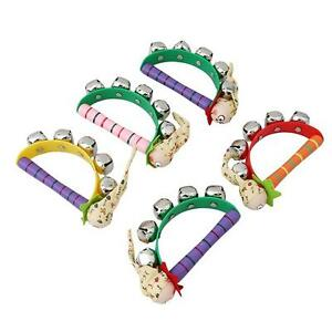 New Baby Wooden Clown Hand Bell Tambourine Rattles Kids Puzzle Educational Toys