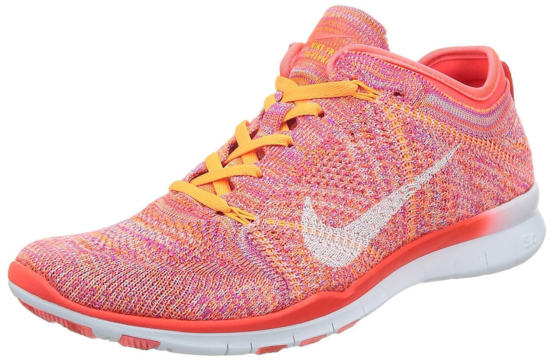 Nike Women's Wmns Free TR Flyknit - Size 7.5 (BRIGHT CRIMSON WHITE)