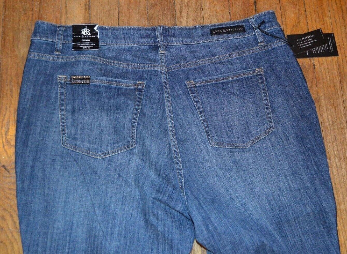 Rock /& Republic Skinny Berlin Caviar Low Rise Slim Fit Skinny Jeans MSRP $92.00