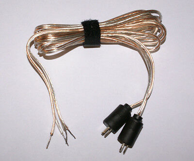 High Quality 5ft Long Pair Bang Olufsen Type Speaker Cables 2 Pin DIN Male