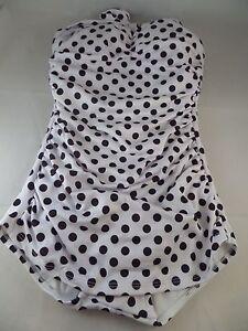 fa1a1f7888d NWT Esther Williams Beach Blanket Bingo White w  Black Polka dots sz ...