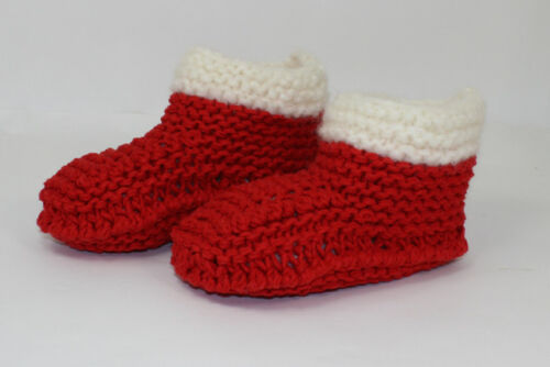 PRINTED INSTRUCTIONS CHRISTMAS SUPER CHUNKY SLIPPERS BOOTS KNITTING PATTERN