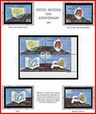 PALAU 1995 UNO / ONU ANNIV. + 2 S/S MNH MAPS, FOOD (vio-al, p.130-31)