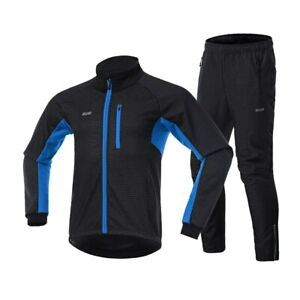 ARSUXEO Reflective Zipper Tights Pants Breathable Warm Winter Mountain Bike