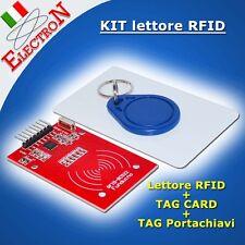 Lettore RFID RC522 Reader 13,56 Mhz con Portachiavi TAG + Card  for Arduino, PIC