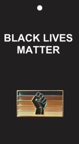 "Set of 3 Protest Fist Black Lives Matter Stripe Flag 1/"" Lapel Pin BLM Equality"
