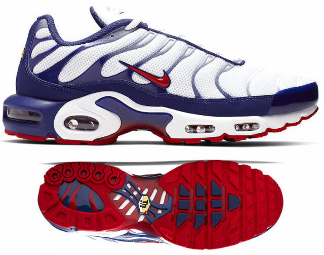 new arrival 4fab5 ed333 New NIKE Air Max Plus TN Team USA Men's Sneakers white red navy all sizes