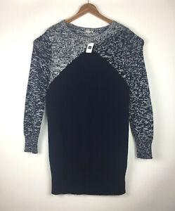 Gap-NEW-Women-039-s-Sz-XL-Pullover-Sweater-Cotton-Blend-Long-Sleeve-Blue-amp-White