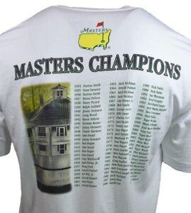 Masters-Tournament-Men-039-s-T-shirt-2015-Champions-Golf-Tournament-WHITE-S-M-L-XL