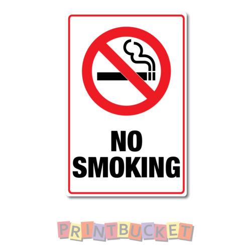 No smoking Sticker 100mm x 150mm quality non fade waterproof vinyl