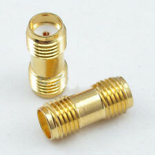 2pcs SMA female jack to SMA female jack Straight RF Connector Adapter