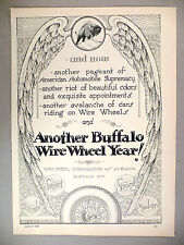 Wire Wheel Corp. PRINT AD - 1929 ~~ tire, tires ~~ Buffalo Winter