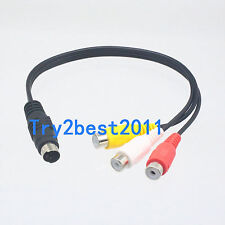 4 PIN S-Video Male to 3-RCA famale Composite AV Cable M/F for Laptop PC TV