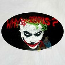 Batman Heath Ledger Joker Why So Serious Embroidered Patch The Dark Knight Bale