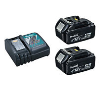 Makita Dc18rc Battery Charger With 2 Bl1840b Lxt 18v 4 Ah Batteries W/ Indicator on sale