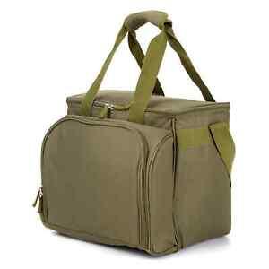 Picnic-refrigeracion-bolso-oliva-manta-con-vajilla-cubiertos-para-4-personas-volumen-20-L