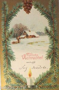 034-weihnachten-winterlandschaft-kerze-zweig-haus-034-1904-praegekarte-20953
