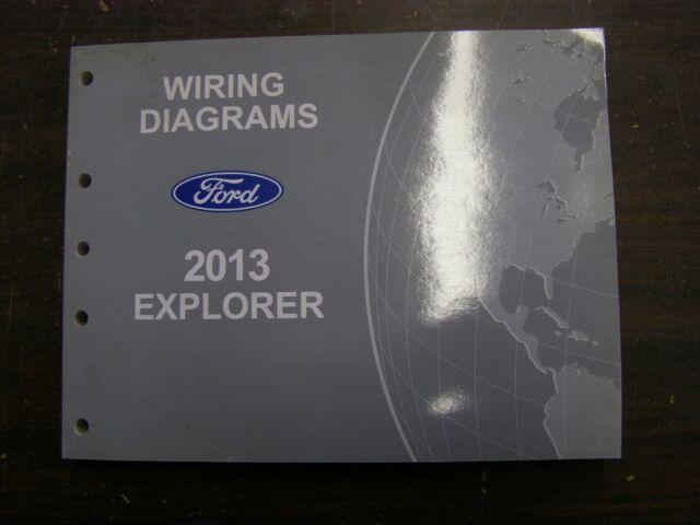 Oem Ford 2013 Explorer Shop Manual Wiring Diagram Book Nos