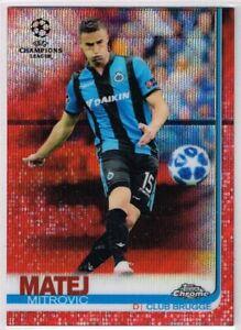AUTOGRAPH ☆ Cards //#75 Champions League CHROME 2018-2019 ☆ BLUE WAVE PARALLEL
