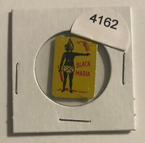 VINTAGE-TIN-LITHOGRAPHED-TOBACCO-TAG-BLACK-MARIA-BLACK-AMERICANA-4162