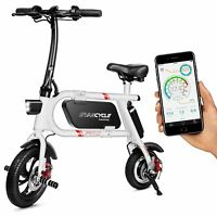 Deals on SwagCycle Pro Folding Pedal-Free Electric Scooter Bike w/App Enabled