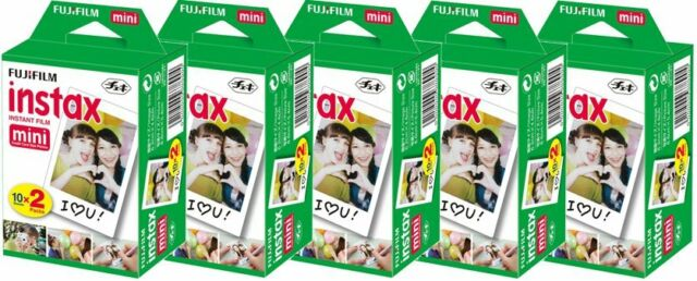 Fujifilm Fuji Polaroid Instax Mini Film Plain White 7 7s 8 10 20 25 50s 90 SP-1