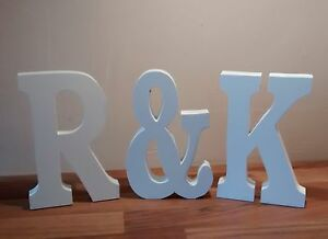 Extra-Large-wooden-letters-with-amp-sign-20cm-wooden-numbers-WEDDING-GIFT