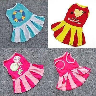 Various Pet Puppy Mini Dress Apparel XS S M L Small Dog Cat Skirt Stripe Clothes