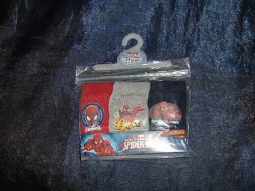 A SELECTION AGE 3//4 YEARS Spiderman Cars  Postm 3 PAIRS BOYS CARTOON BRIEFS