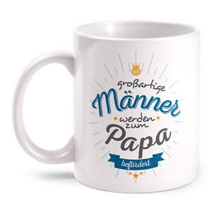 Zum Papa Befördert Tasse Spruch Vatertag Geburtstag Geschenk