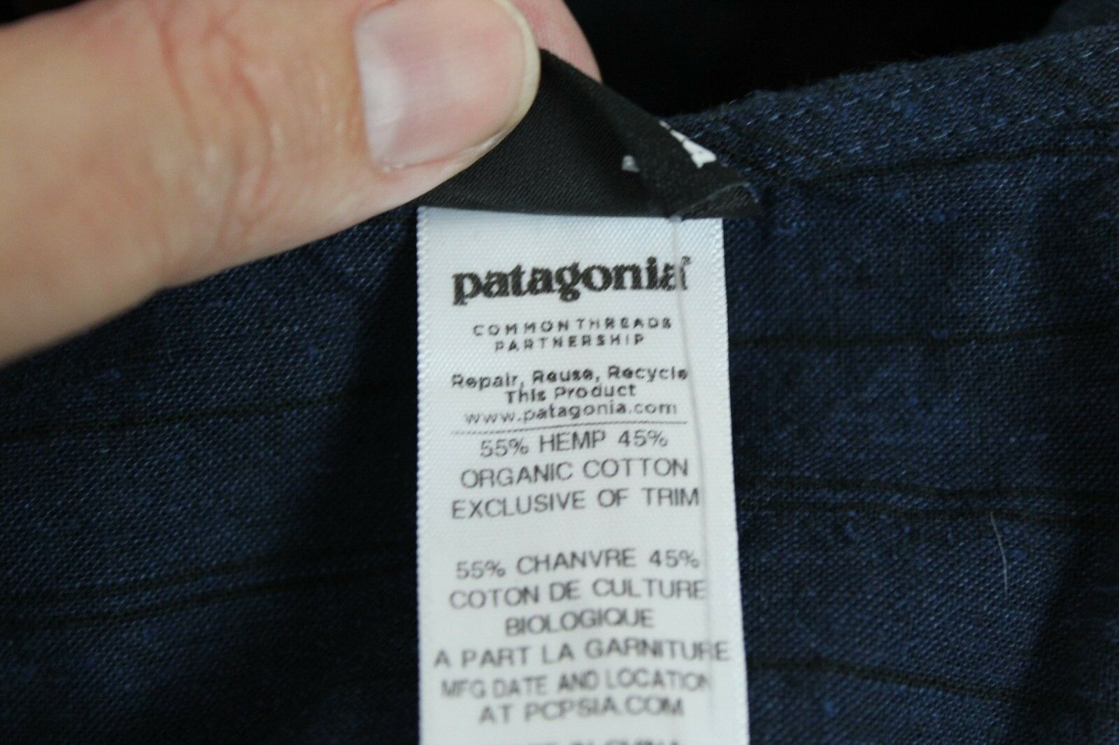 Patagonia Island Hemp Credver Credver Credver Dress bluee Slim Fit Size 2 MSRP  89.00 (R) fa06a0