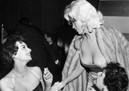 Art Print POSTER Sophia Loren Jayne Mansfield Parsons