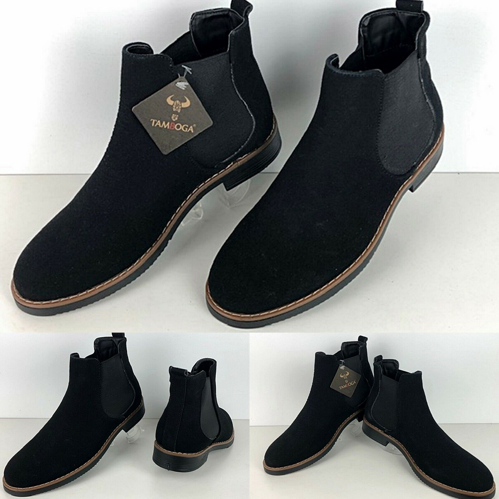 Young Fashion Wedding Outdoor Men's Business Black Boots Shoes Boat S