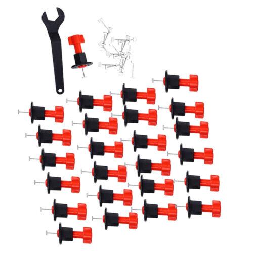 25PCS TILE LEVELING SYSTEM KITS T LEVELER SPACER mit Schraubenschlüssel