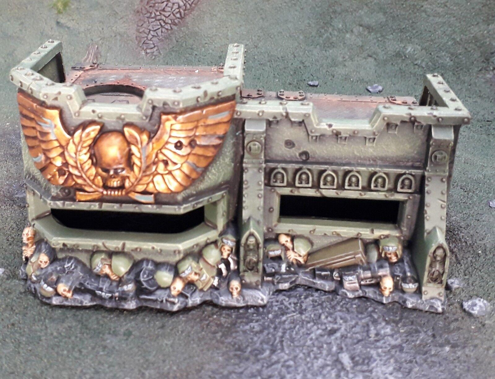muchas concesiones 40k Parojo de mártires Imperial Bunker Bunker Bunker Pro Pintado  mas barato